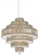 Schonbek 6675GS - Plaza 25 Light 110V Pendant in Stainless Steel with Golden Shadow Crystals From Swarovski