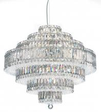 Schonbek 6677GS - Plaza 31 Light 110V Pendant in Stainless Steel with Golden Shadow Crystals From Swarovski