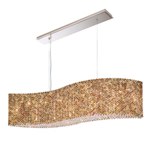 Schonbek RE4821AZU - Refrax 21 Light 110V Pendant in Stainless Steel with Azurite Crystals From Swarovski